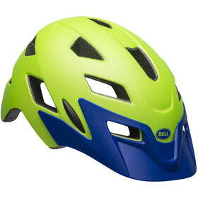 Bell Sidetrack Fietshelm Kinderen, matte bright green/blue